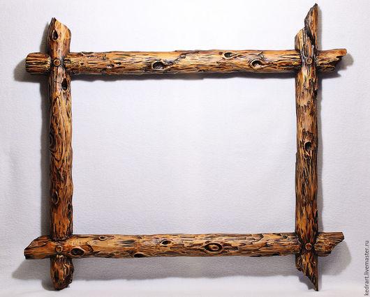 Зеркала ручной работы. Ярмарка Мастеров - ручная работа. Купить Деревянная  рама состаренная. Handmade. Коричневый, состаренное дерево
