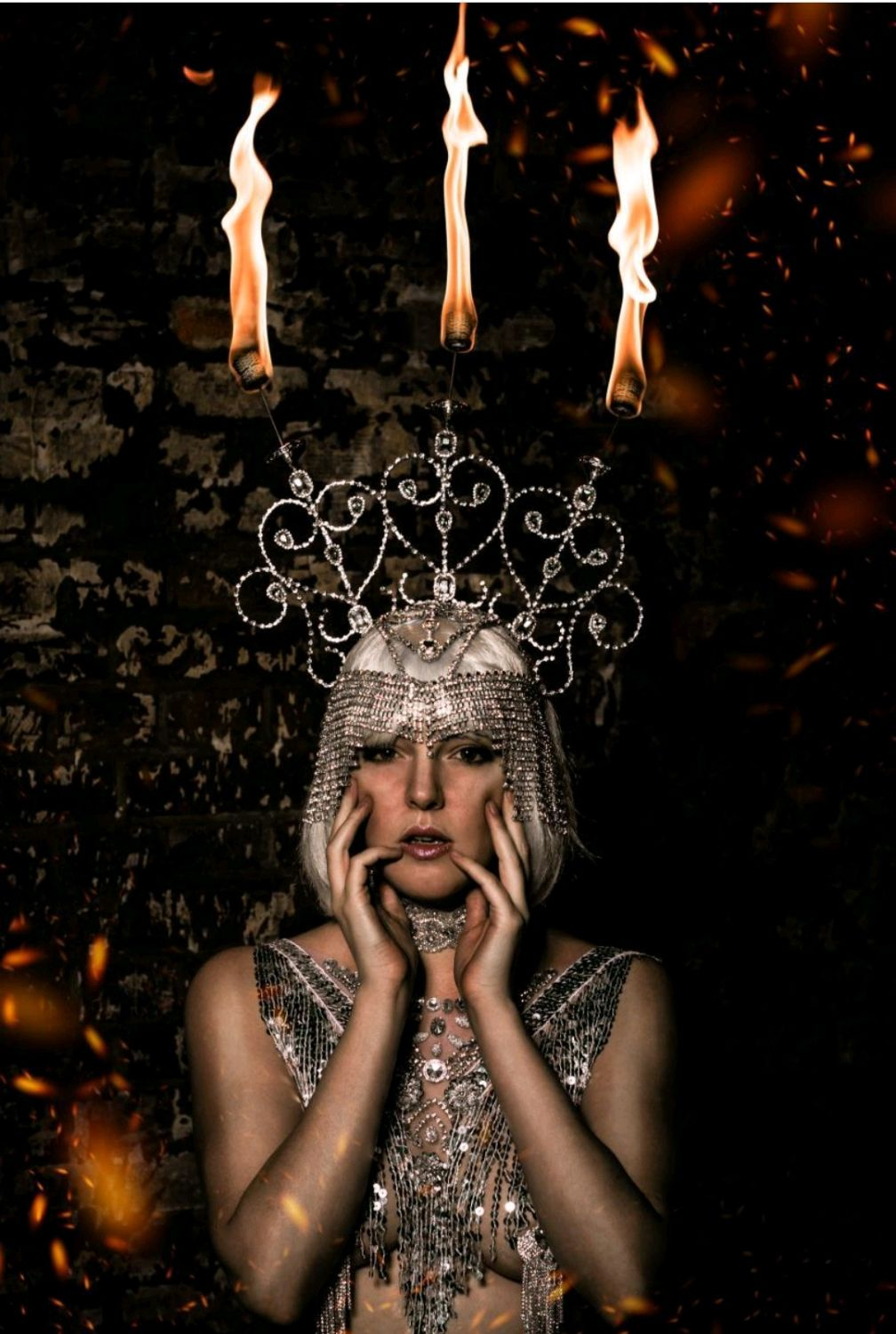Frame headdress for fire show, Carnival masks, Moscow,  Фото №1