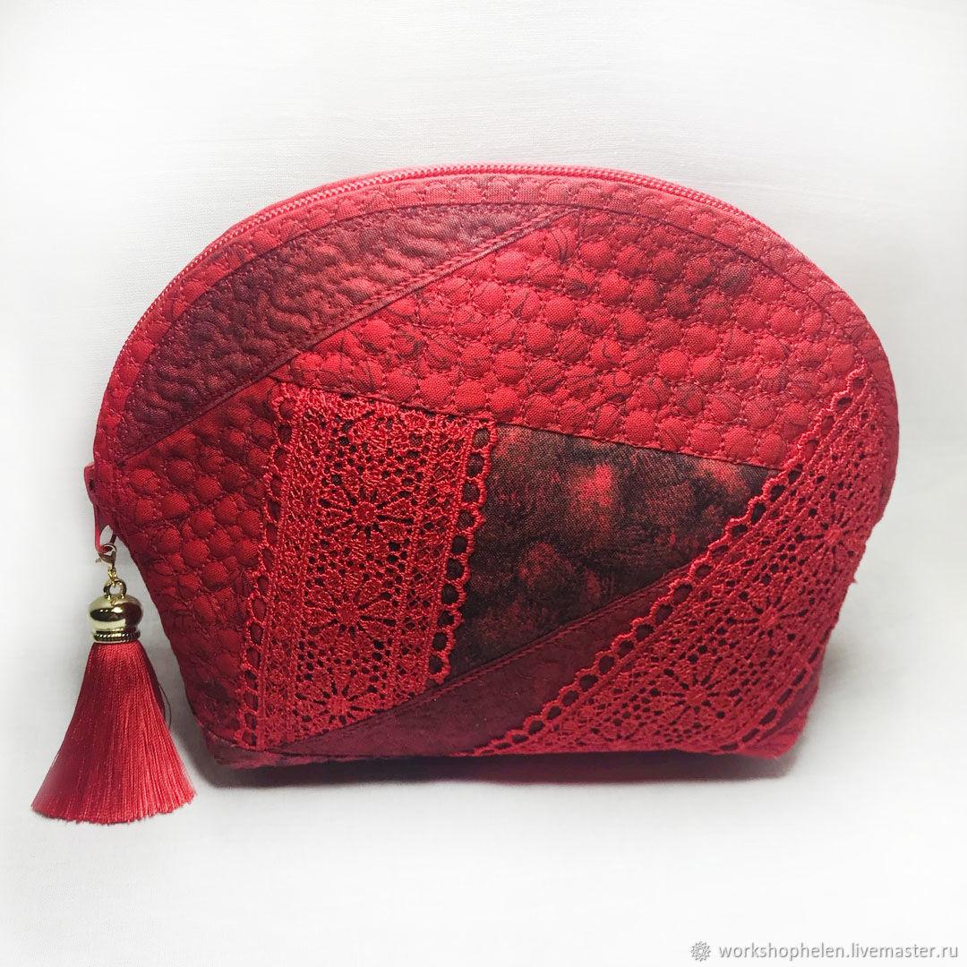 Red zippered cosmetic bag, Beauticians, Volgorechensk,  Фото №1