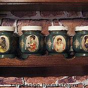 Для дома и интерьера ручной работы. Ярмарка Мастеров - ручная работа Баночки для специй (чая, орехов, сухофруктов, да чего угодно!). Handmade.