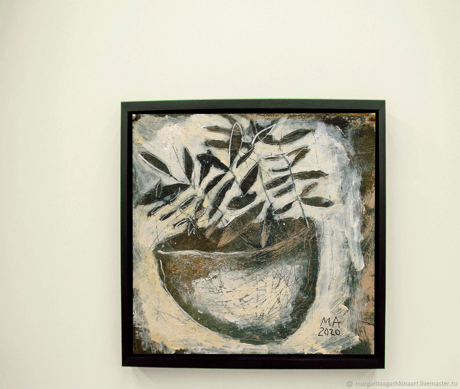 Painting Today so, and tomorrow day (still life, gray, beige, white), Pictures, Smolensk,  Фото №1