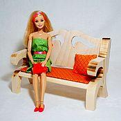 Куклы и игрушки ручной работы. Ярмарка Мастеров - ручная работа Диван для куклы. Handmade.