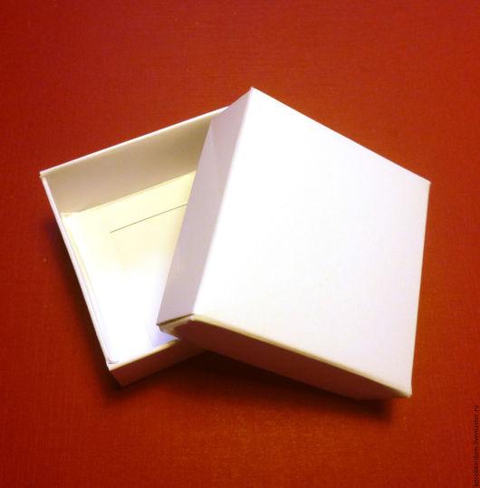 """Упаковка ручной работы. Ярмарка Мастеров - ручная работа. Купить Коробочка 5х5х2 """"крышка-дно"""" белый мелованный картон. Handmade."""