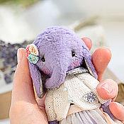 Куклы и игрушки ручной работы. Ярмарка Мастеров - ручная работа Слоник тедди Лавандовый. Handmade.