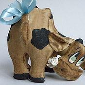 Куклы и игрушки ручной работы. Ярмарка Мастеров - ручная работа Кофейная игрушка корова. Handmade.