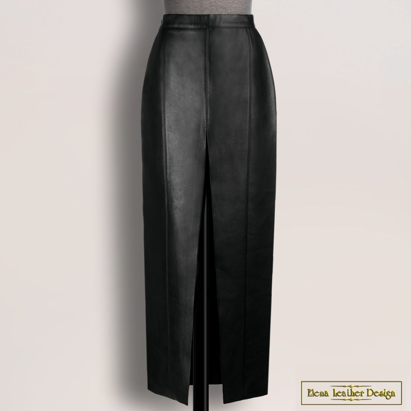 Pencil skirt 'Charlotte' from natural. leather/suede (any color), Skirts, Rodniki,  Фото №1