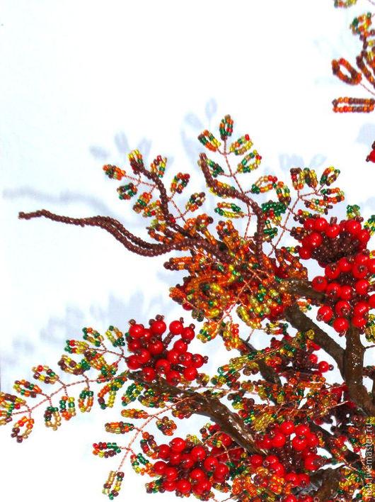 Деревья ручной работы. Ярмарка Мастеров - ручная работа. Купить Царица осени, рябина.. Handmade. Ярко-красный, осенние ягоды
