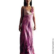 Одежда ручной работы. Ярмарка Мастеров - ручная работа платье-батик Орхидея. Handmade.