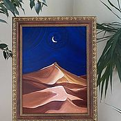 Картины и панно handmade. Livemaster - original item Egypt. Moon Blues. Landscape.. Handmade.