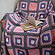Текстиль, ковры ручной работы. Ярмарка Мастеров - ручная работа. Купить Плед розовый и абстрактный. Handmade. Вязание крючком