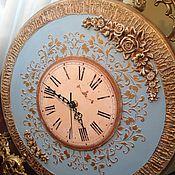 Для дома и интерьера ручной работы. Ярмарка Мастеров - ручная работа Часы настенные по мотивам Благородная классика в голубом. Handmade.