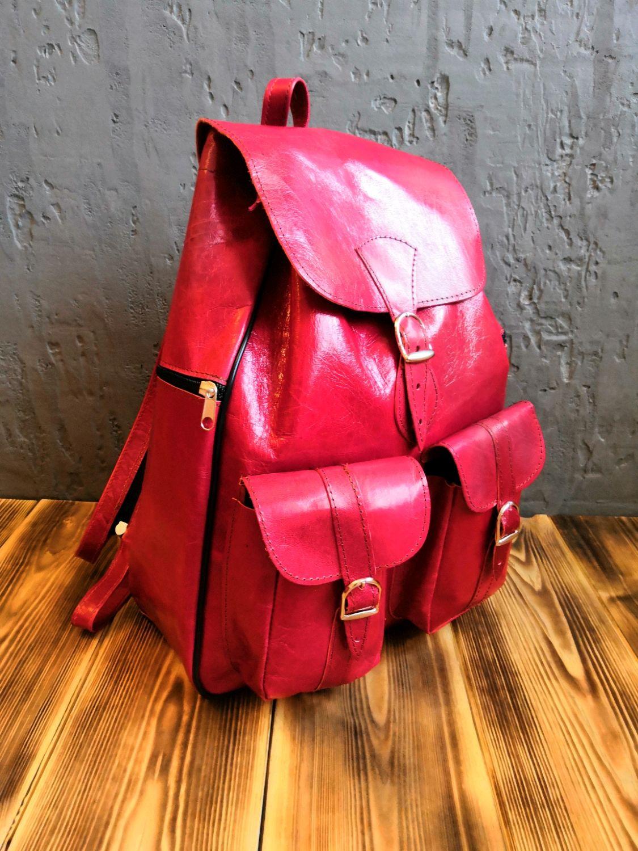 Большой дизайнерский рюкзак из натуральной кожи верблюда, Рюкзаки, Уфа, Фото №1