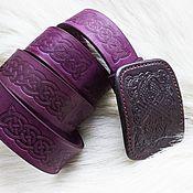 Ремни ручной работы. Ярмарка Мастеров - ручная работа Ремень из натуральной кожи Викинг. Handmade.