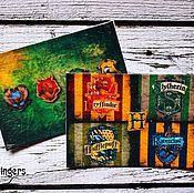 """Канцелярские товары ручной работы. Ярмарка Мастеров - ручная работа Кардхолдер для проездного карточки кожа """"Гарри Поттер"""", Harry Potter. Handmade."""