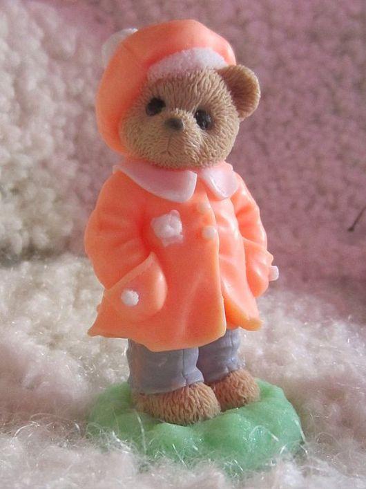 """Мыло ручной работы. Ярмарка Мастеров - ручная работа. Купить Мыло """"Мишка в пальтишке"""". Handmade. Мыло, сувенирное мыло, teddy"""