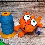 Куклы и игрушки handmade. Livemaster - original item Keychain orange cat Babaika soft stuffed plush toy for cat lovers. Handmade.