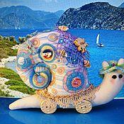 """Куклы и игрушки ручной работы. Ярмарка Мастеров - ручная работа Интерьерная игрушка """"Улитка-путешественница"""". Handmade."""