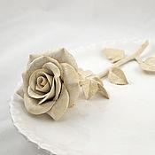 Посуда ручной работы. Ярмарка Мастеров - ручная работа Тарелка с крупной розой. Handmade.