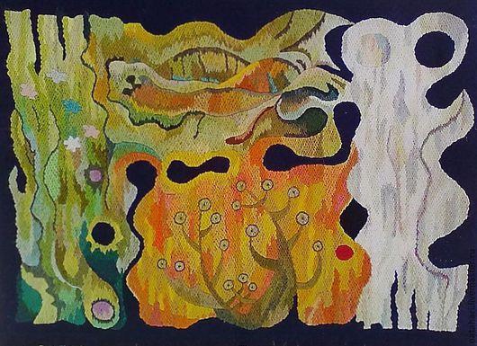 Абстракция ручной работы. Ярмарка Мастеров - ручная работа. Купить Гобелен.- Времена года. Репродукция .. Handmade. Панно и картины, подарок