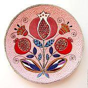 """Посуда ручной работы. Ярмарка Мастеров - ручная работа Керамическая тарелка""""Гранаты"""". Handmade."""