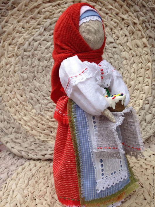 Народная кукла, Берегиня дома, обережная кукла,оберег для дома, Пасхальная, оберег, Пасха, Светлый день, русский стиль, славянские обереги, красный, белый, голубой, зеленый.