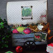 """Открытки ручной работы. Ярмарка Мастеров - ручная работа Необычная открытка """"Фермерская телега"""". Handmade."""