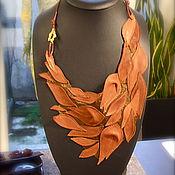 Украшения handmade. Livemaster - original item Genuine leather necklace