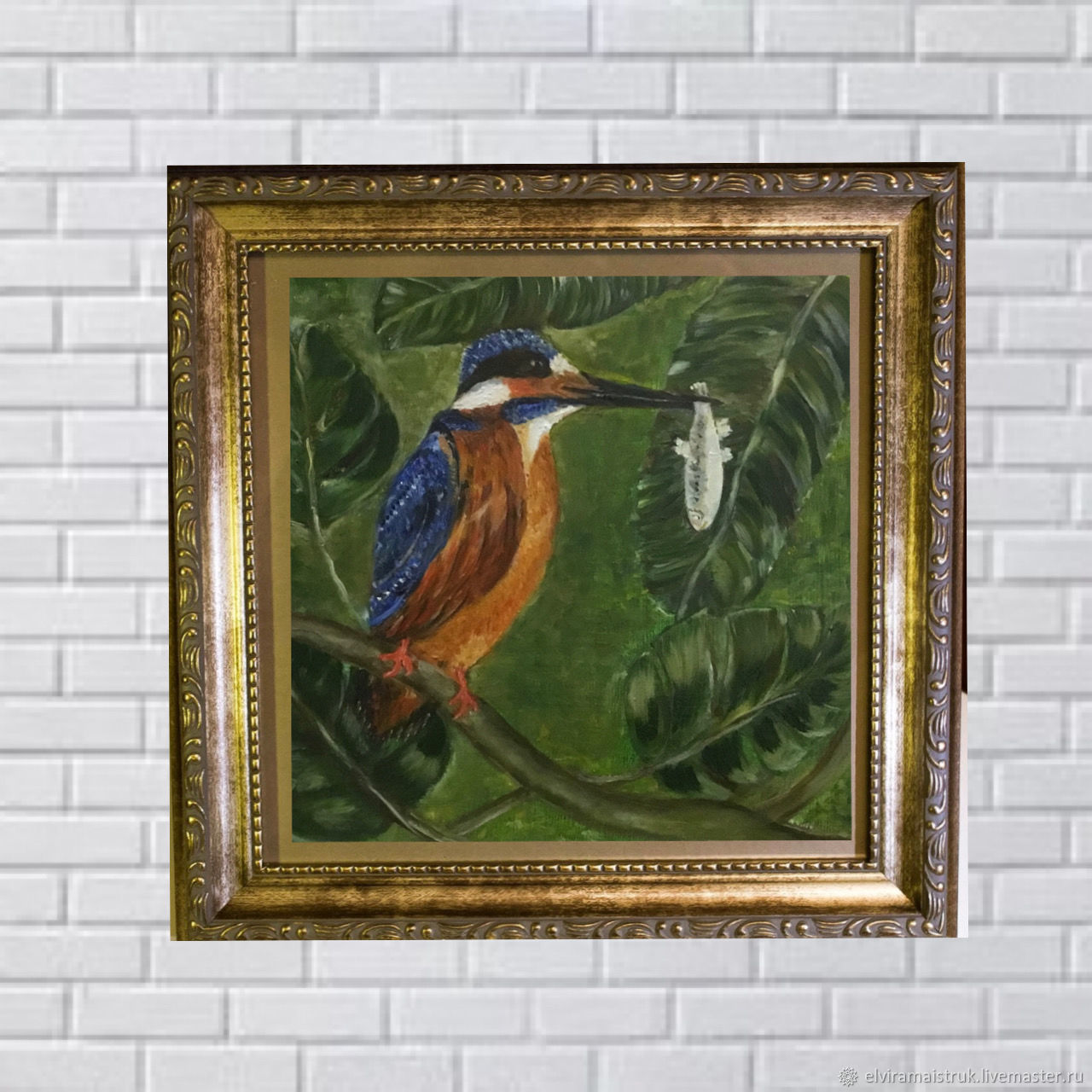 Oil painting green orange blue white, Pictures, St. Petersburg,  Фото №1