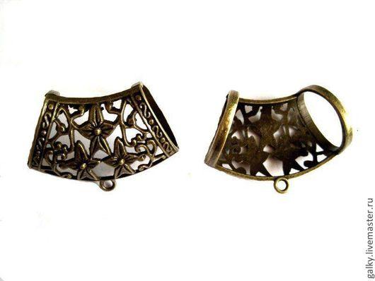 Для украшений ручной работы. Ярмарка Мастеров - ручная работа. Купить Бейл со звездами для платка античная бронза. Handmade.