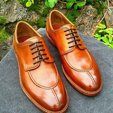 Обувь ручной работы. Ярмарка Мастеров - ручная работа Мужские дерби. Handmade.