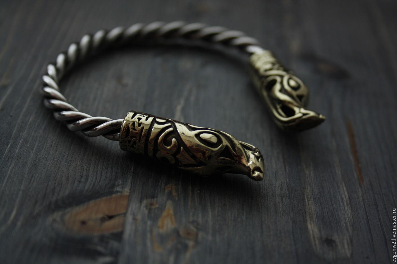 Викинг  браслет ,браслет викингов, серебреный браслет, Браслет из бусин, Волгоград,  Фото №1