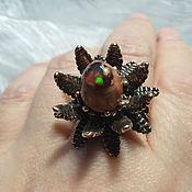 Украшения handmade. Livemaster - original item Phoenix ring with natural opal-Cantera on the matrix. Handmade.