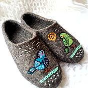 """Обувь ручной работы. Ярмарка Мастеров - ручная работа Тапки женские """"Соловушки"""".. Handmade."""