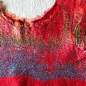 Одежда ручной работы. Ярмарка Мастеров - ручная работа Валяная туника Пламя. Handmade.