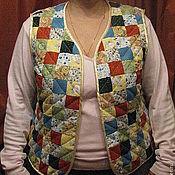 """Одежда ручной работы. Ярмарка Мастеров - ручная работа Лоскутный жилет """"Луговые травы"""". Handmade."""