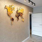 Картины и панно handmade. Livemaster - original item Map of the WORLD