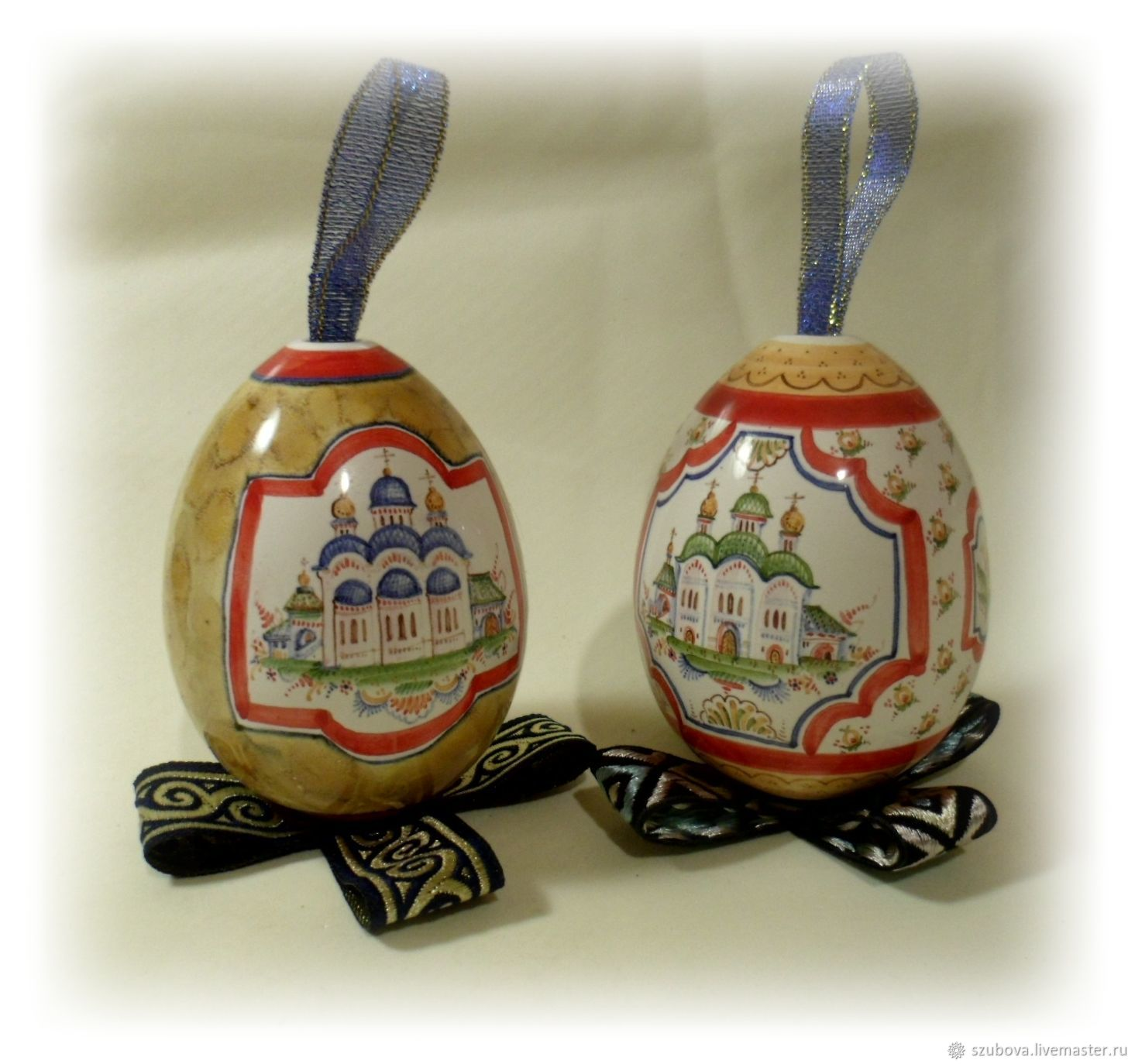 Eggs porcelain majolica - a great gift for Easter and Christmas, Christmas decorations, Moscow,  Фото №1