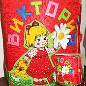 """Куклы и игрушки ручной работы. Ярмарка Мастеров - ручная работа Большая именная развивающая книжка """"Виктория"""". Handmade."""