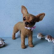 Куклы и игрушки ручной работы. Ярмарка Мастеров - ручная работа Собачка из шерсти.Симона,10 см.. Handmade.