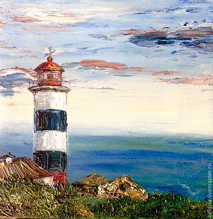 Lighthouse Egorova, sea of Japan, Russia, oil painting, Pictures, Moscow,  Фото №1