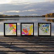 Для дома и интерьера ручной работы. Ярмарка Мастеров - ручная работа Цветочное трио. Handmade.