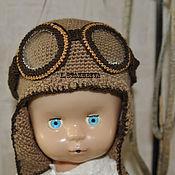 Работы для детей, ручной работы. Ярмарка Мастеров - ручная работа Шапка-шлем пилота. Handmade.