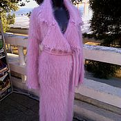 Одежда ручной работы. Ярмарка Мастеров - ручная работа Пальто из мохера розового цвета. Handmade.