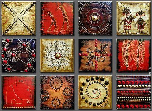 Символизм ручной работы. Ярмарка Мастеров - ручная работа. Купить Африка. Handmade. Ярко-красный, африканский стиль, купить подарок