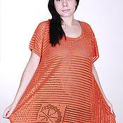 "Одежда handmade. Livemaster - original item Tunic ""Wild Orange"". Handmade."