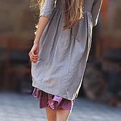 Одежда ручной работы. Ярмарка Мастеров - ручная работа Серебристо-серое платье. Handmade.