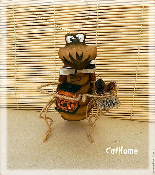 Ароматизированные куклы ручной работы. Ярмарка Мастеров - ручная работа. Купить Таракан-кофеман. Handmade. Коричневый, кофе, джутовый шнур