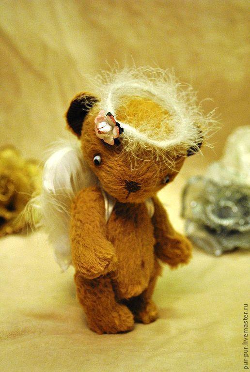 Мишки Тедди ручной работы. Ярмарка Мастеров - ручная работа. Купить Мой милый Ангел (Нашел дом). Handmade. Коричневый