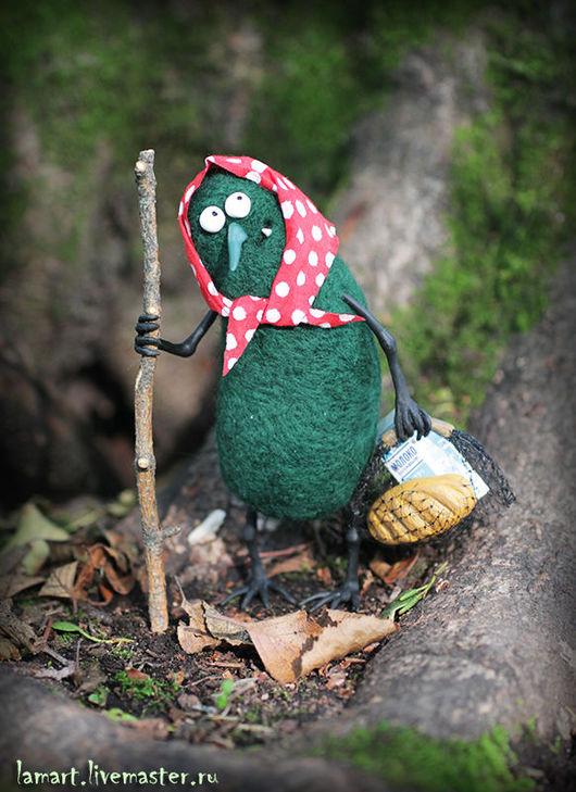 Сказочные персонажи ручной работы. Ярмарка Мастеров - ручная работа. Купить Карга. Handmade. Тёмно-зелёный, дерево, интерьерная кукла
