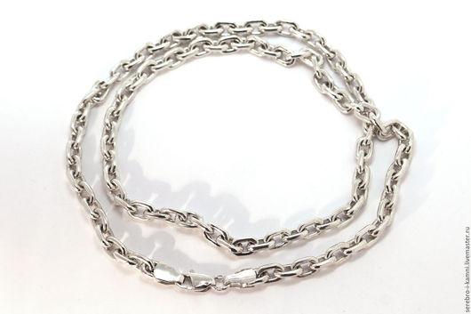Украшения для мужчин, ручной работы. Ярмарка Мастеров - ручная работа. Купить серебряная якорная цепочка для мужчин (звено 5х7). Handmade.